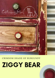 Ziggy Bear Burgundy | Canterbury Blue - Signed Jaclyn