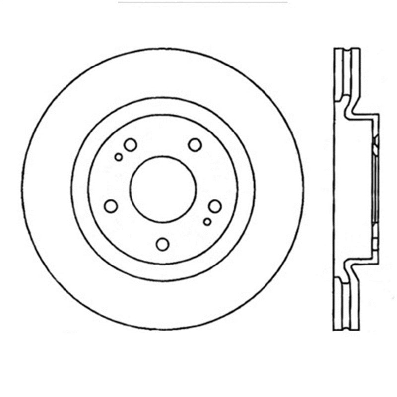 StopTech Power Slot 08-09 Evo 10 Slotted Left Front Rotor