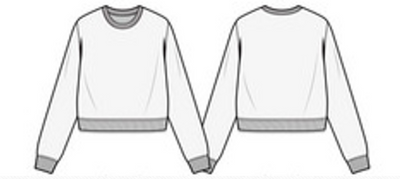 Women's Crop-Top Crewneck Sweater