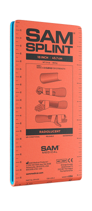 "SAM Splint 18"" Orange / Blue"