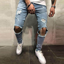 Load image into Gallery viewer, Newly Mens Slim Fit Skinny Stretch Denim Trousers