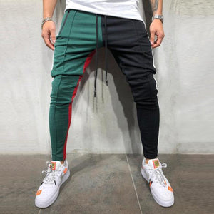 Patchwork Slim Sports Jogger Pants
