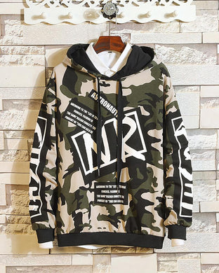 Plush Camouflage Printed Street Loose Sports Sweater