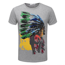 Load image into Gallery viewer, Indian Totem Tshirt Black&White&Gray