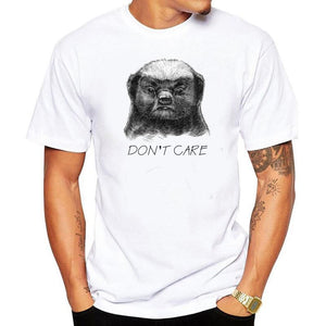 Don't Care Printed Short-Sleeved T-Shirt