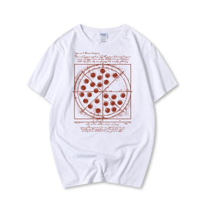 Pizza Printed Cotton Casual Short-Sleeved T-Shirt