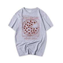 Load image into Gallery viewer, Pizza Printed Cotton Casual Short-Sleeved T-Shirt