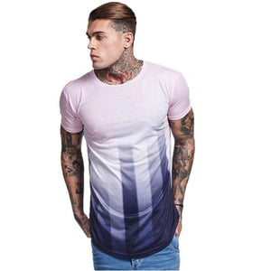 Falling Line Breathable Short-Sleeved T-Shirt