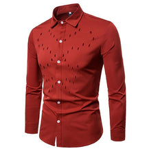 Load image into Gallery viewer, Men's Chest Hollow Design Long Sleeve Shirt