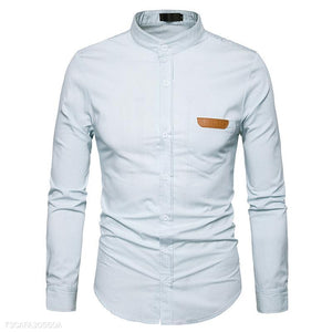 Cotton Blended Mens Shirt 4Colors