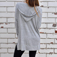 Load image into Gallery viewer, Casual Zipper Slit Long Sleeve Hoodies