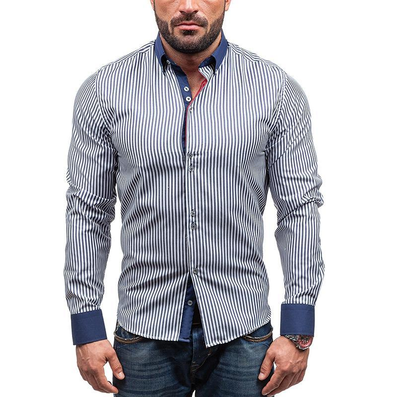 Striped Stitching Shirt