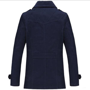 Casual Fashion Slim Plain Button Long Sleeve Men Outerwear