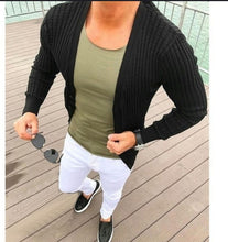 Load image into Gallery viewer, Fashion Plain Slim Fit Knit Cardigan