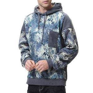 Casual Fashion Loose Print Long Sleeve Men Sport Hoodie