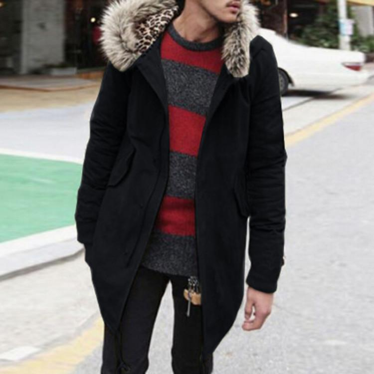 Casual Winter Plain Packets Zipper Jacket Coat