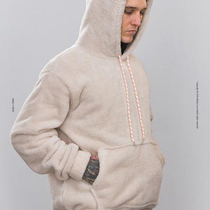 Casual Loose Packets Plain Soft Hoodie With Hat
