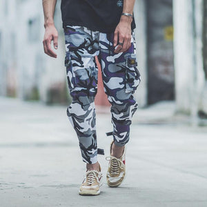 Fashion Street Style Camouflage Printed Jogger Pants