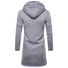 Load image into Gallery viewer, Fashion Casual Long Sleeves Slim Plain Long Hoodie Coat