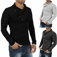 Load image into Gallery viewer, Fashion Slim Plain Button Decorated Shirt