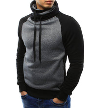 Load image into Gallery viewer, Fashion Split Joint Slim High Collar Casual Hoodie