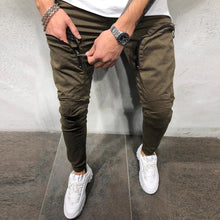 Load image into Gallery viewer, Casual Sport Plain Elastic Slim Jogger Pants