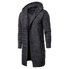 Load image into Gallery viewer, Mid-Length Cardigan Hooded Sweater Coat