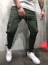Load image into Gallery viewer, Casual Pure Color Pocket Sports Pants