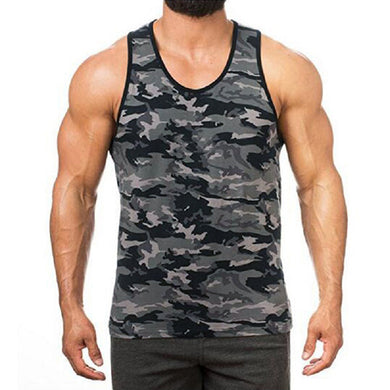 Fashion Camouflage Sports Fitness Cotton Vest