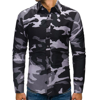 Men's Fashion Camouflage Long Sleeve Shirt