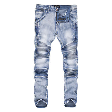 2019 New Fashion Washed Slim-fit Jeans