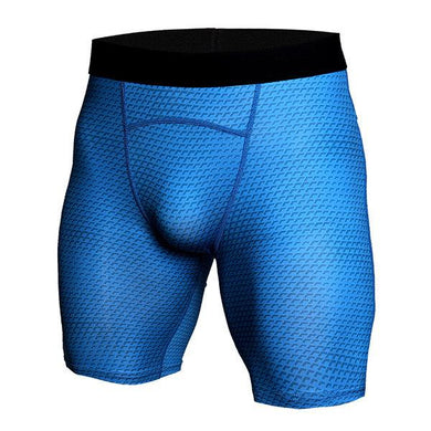 Snake   Shorts Men's Sports Tights Fitness Running Elastic Fish Scales Quick Dry   Pants