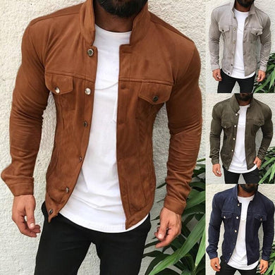 Mens Fashion Button Jacket