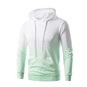 Fashion Contrast Colour Long Sleeve Hoodies