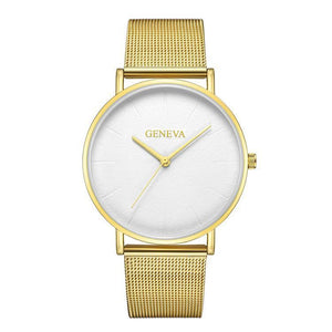 Fashion Contracted Ultra-Thin Watches Steel   Mesh Belt Watches