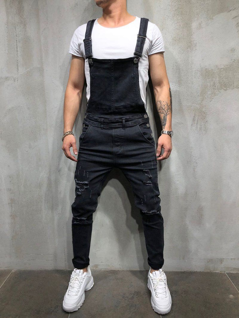 Denim Overalls Suspenders   Jumpsuit Pants