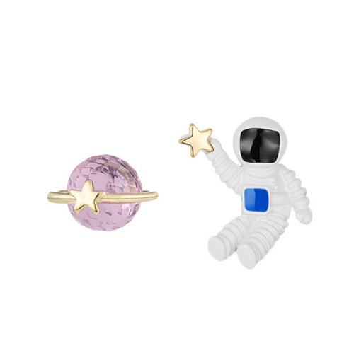 Astronaut & Planet Earrings