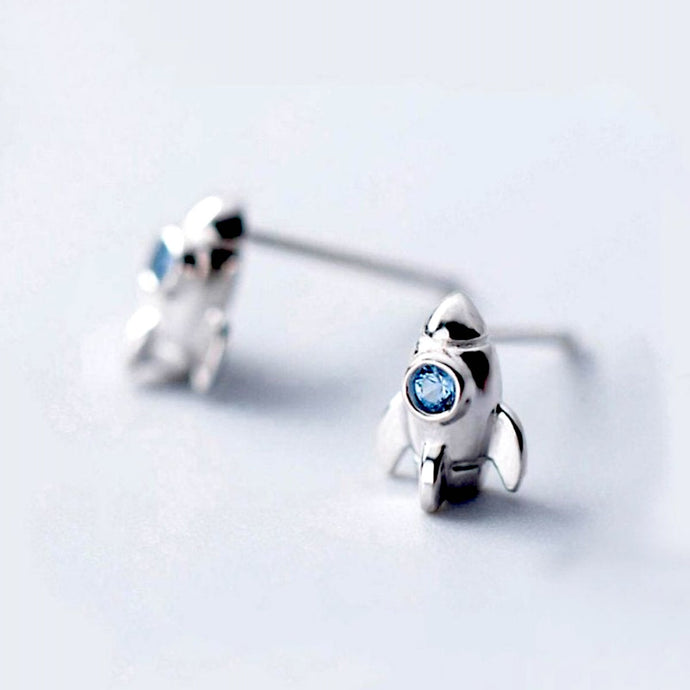 Sterling Silver Rocket Earrings