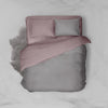 NM X OAS Mauve Pink / Slate Grey Cotton Bedsheet SetSize Single Oak & Sand ™ Official StoreBedsheet Set