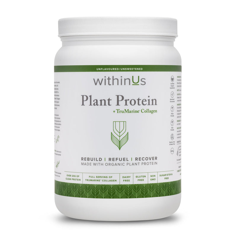 withinUs PLANT PROTEIN + TruMarine Collagen
