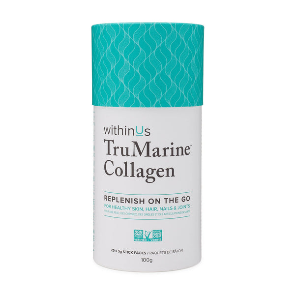 withinUs TruMarine Collagen Stick Pack Container - INVU Skin | Regina, SK