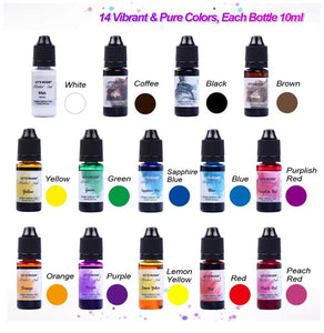 ALCOHOL INK (Lets Resin Brand) 14 Piece