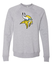 Load image into Gallery viewer, Bella+Canvas Pullover Crewneck Sweatshirt (Viking Head)