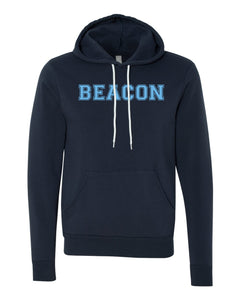 Bella + Canvas - Unisex Hooded Pullover Sweatshirt w/ Block Font (YOUTH)