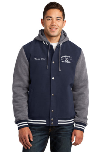 Sport-Tek® Insulated Letterman Jacket (All White Threading)