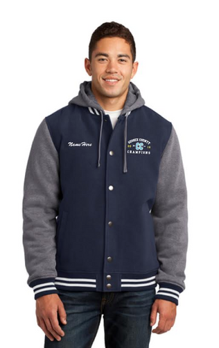 Sport-Tek® Insulated Letterman Jacket (Cape Colored Threading)