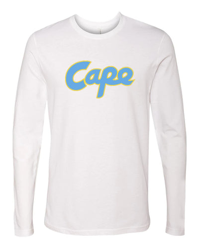 Next Level - Premium Long Sleeve Crew (Cape Yellow Outline)
