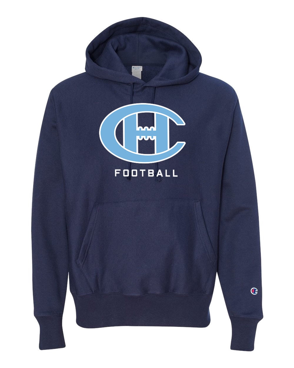 Champion Reverse Weave Hooded Sweatshirt Football