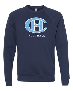 Bella + Canvas - Unisex Sponge Fleece Raglan Crewneck Sweatshirt Football