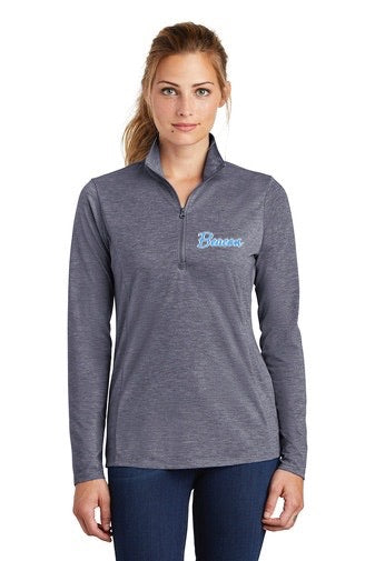 Sport-Tek ® Ladies PosiCharge ® Tri-Blend Wicking 1/4-Zip Pullover (Adult)